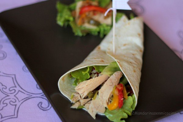 Vegetable and White Tuna (Albacore) wrap