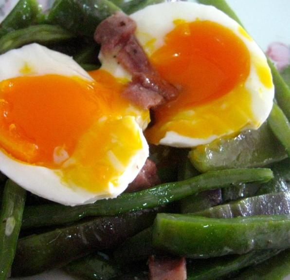 Green Beans with Eggs and Anchovies from the Bay of Biscay
