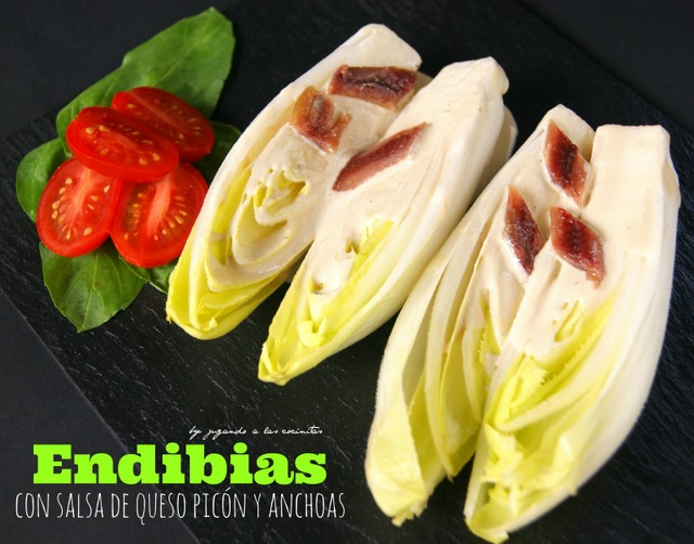Endives with picón blue cheese and anchovies