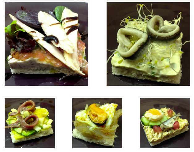 Christmas Appetizer: seafood quintet