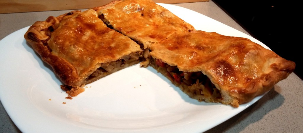 White Tuna Pasty with three peppers and courgette