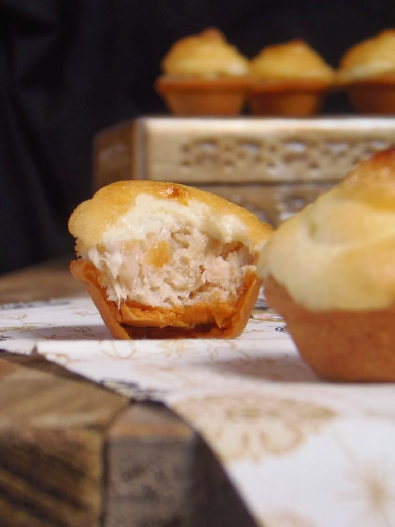 Christmas canapés: seafood tartlets