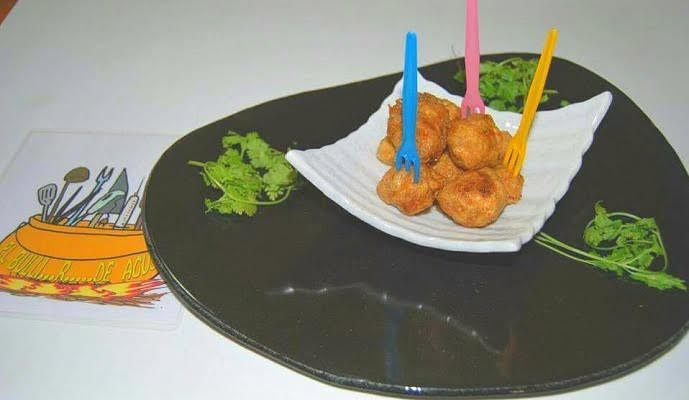 Hot white tuna or albacore tuna ball snacks