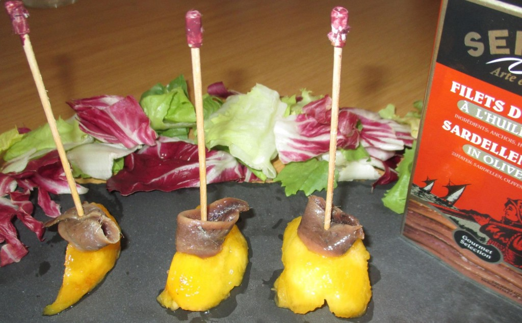 Sweet-salty pintxo