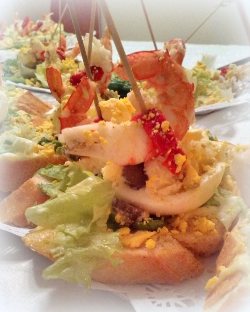 Basque prawn salad pintxo