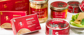 Serrats canned fish website