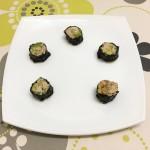 Christmas canapés: White Tuna sushi