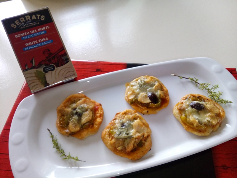 Christmas canapés: White Tuna and Gorgonzola tartlets
