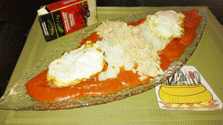 Cuban-style rice with white tuna