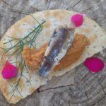 Serrats Baby Sardines in romesco sauce