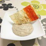 Anchovy pâté with crunchy surimi