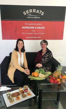 Esperanza Serrats and Dr. López-Ocaña in the I Talk on Nutrition & Health of March 22nd.