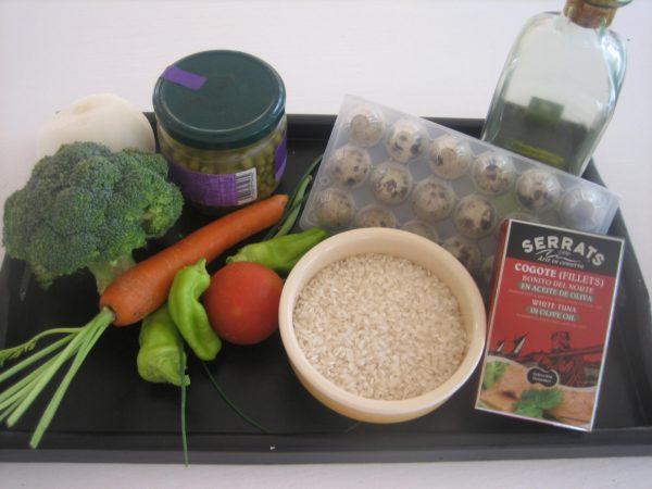 Fun rice salad for kids, ingredients