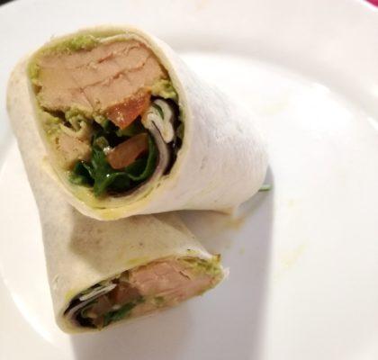 White Tuna and salad wrap