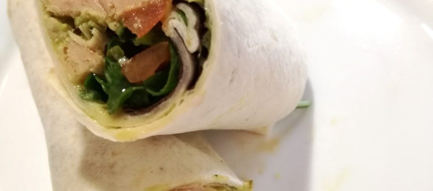 White Tuna and salad wrap
