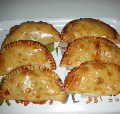 White Tuna empanadillas (dumplings)
