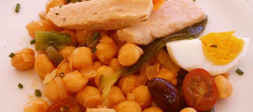 Chickpea salad with Albacore tuna