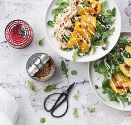 Peach and Tuna salad
