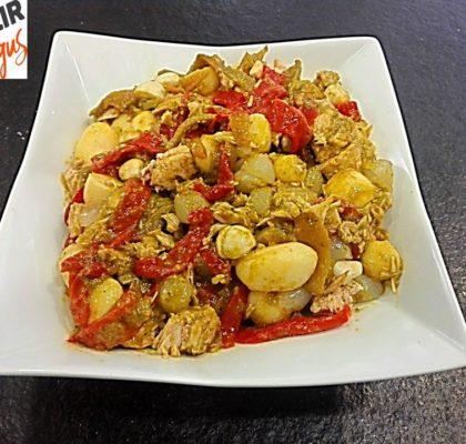 Marmitako salad with tuna nape