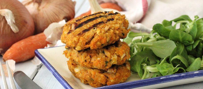 Tuna and carrot burgers