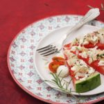 Fresh portioned watermelon salad