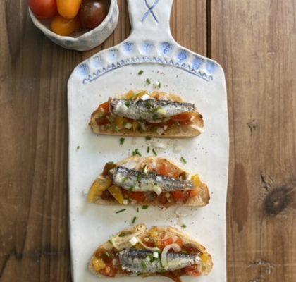 Sardines toast