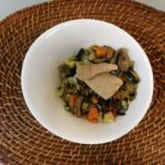 Baked vegetables ratatouille with White Tuna