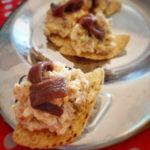 Totopos (nachos) of corn with salad