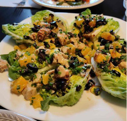 Orange and White Tuna salad
