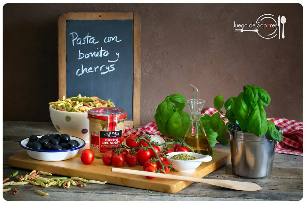 Pasta with tuna and cherry tomatoes ingredients