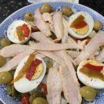 Spanish potato salad with tuna belly
