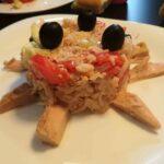 Rice salad for Halloween